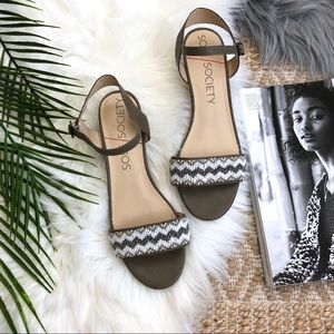 Sole Society Beaded Ankle Strap Sandals